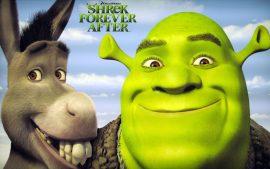 Papel de parede Shrek Forever – Shrek e Burro