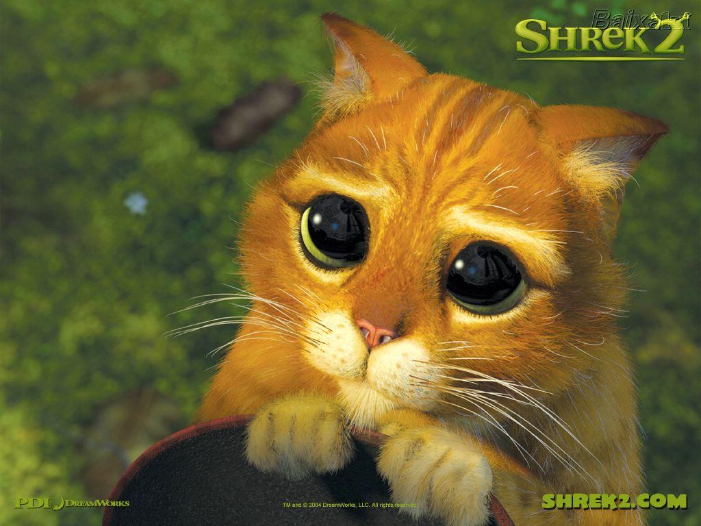 Papel de parede Olhar de Piedade: Gato de Botas-Shrek para download gratuito. Use no computador pc, mac, macbook, celular, smartphone, iPhone, onde quiser!