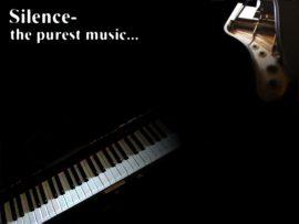 Papel de parede Silêncio – pura música