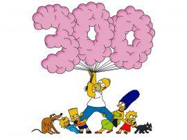 Papel de parede Simpsons – 300 episódios