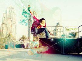 Papel de parede Skate – Cores