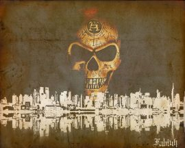 Papel de parede Skull Over City
