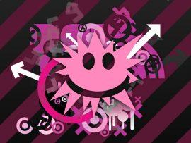 Papel de parede Smile Rosa