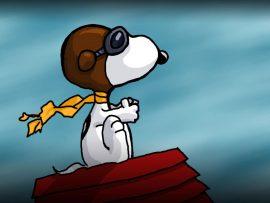 Papel de parede Snoopy – Aviador