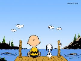 Papel de parede Snoopy – com Charlie Brown