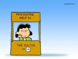 Papel de parede Snoopy – Lucy Psiquiatra