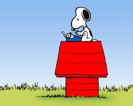 Papel de parede Snoopy – Máquina de Escrever