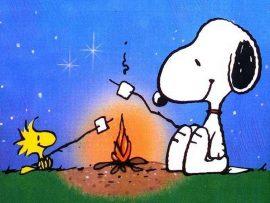 Papel de parede Snoopy – Marshmallow