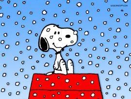 Papel de parede Snoopy – Nevando