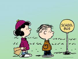 Papel de parede Snoopy – Parada de ônibus