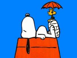 Papel de parede Snoopy e Woodstock
