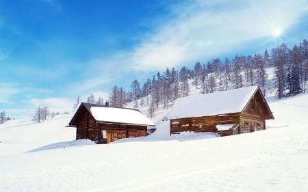 Papel de parede Cabanas na Neve para download gratuito. Use no computador pc, mac, macbook, celular, smartphone, iPhone, onde quiser!