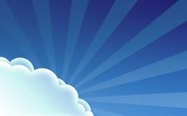 Papel de parede Sol Atrás da Nuvem