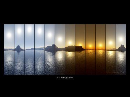 Papel de parede Sol da meianoite para download gratuito. Use no computador pc, mac, macbook, celular, smartphone, iPhone, onde quiser!