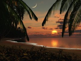 Papel de parede Sol e Lua