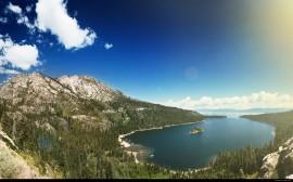 Papel de parede Lago entre Montanhas