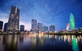 Papel de parede Japão: Por do Sol em Yokohama