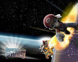Papel de parede Super Mario Galaxy – Koopa e Mario