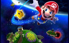 Papel de parede Super Mario Galaxy – Mario e os Planetas