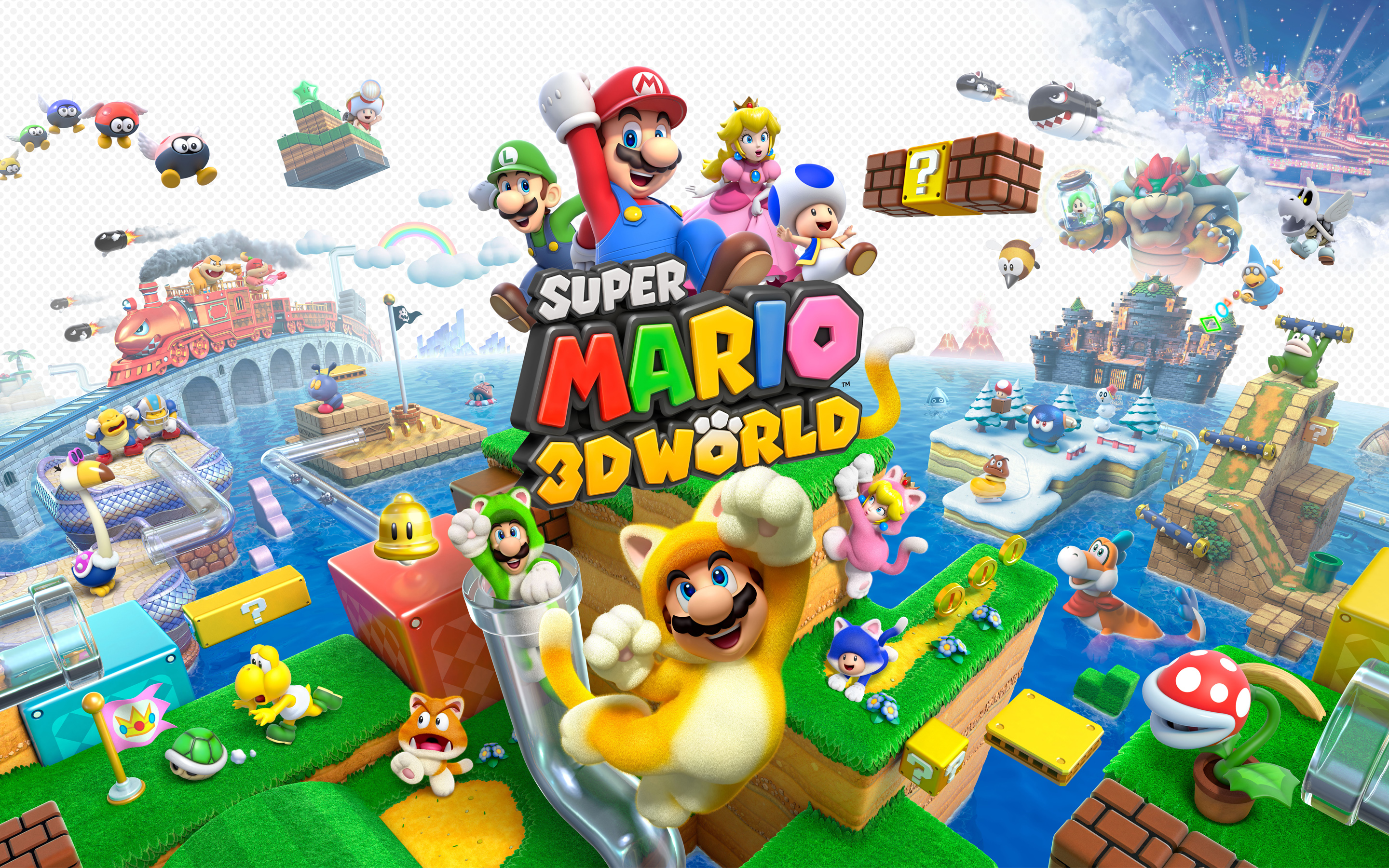 Papel Parede Mario ~ Papel de Parede Super Mario 3D World Wallpaper para Download no Celular ou Computador PC