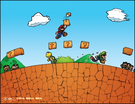 Papel de parede Super Mario Bros Arc Zero para download gratuito. Use no computador pc, mac, macbook, celular, smartphone, iPhone, onde quiser!