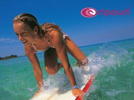 Papel de parede Surfista Mulher