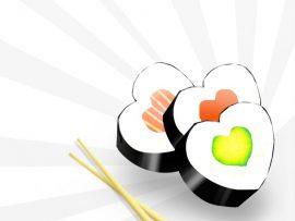 Papel de parede Sushi de Amor