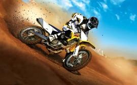 Papel de parede Motocross: Levantando Terra