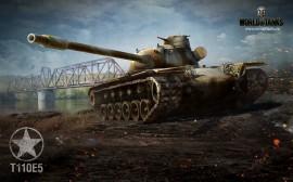 Papel de parede T110E5, EUA – World of Tanks