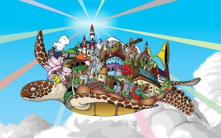 Papel de parede Tartaruga Voadora para download gratuito. Use no computador pc, mac, macbook, celular, smartphone, iPhone, onde quiser!