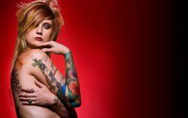 Papel de parede Tattoo – Garota