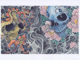 Papel de parede Tattoo – Tradicional