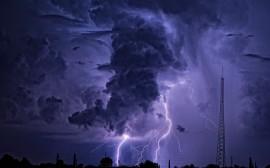 Papel de parede Tempestade Roxa