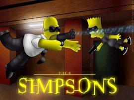Papel de parede The Simpsons Matrix