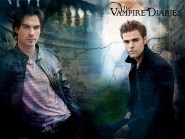 Papel de parede The Vampire Diaries –  Stefan e Damon