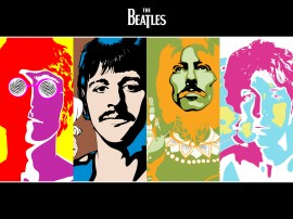 Papel de parede The Beatles Coloridos