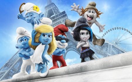 Papel de parede Smurfs 2 para download gratuito. Use no computador pc, mac, macbook, celular, smartphone, iPhone, onde quiser!