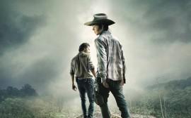 Papel de parede The Walking Dead: Carl e Rick