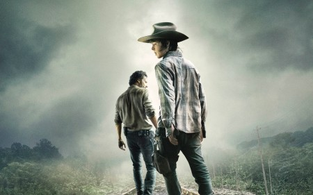 Papel de parede The Walking Dead: Carl e Rick para download gratuito. Use no computador pc, mac, macbook, celular, smartphone, iPhone, onde quiser!