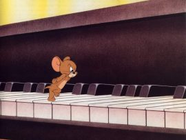 Papel de parede Tom & Jerry – No Piano