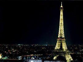 Papel de parede Torre Eiffel – à Noite