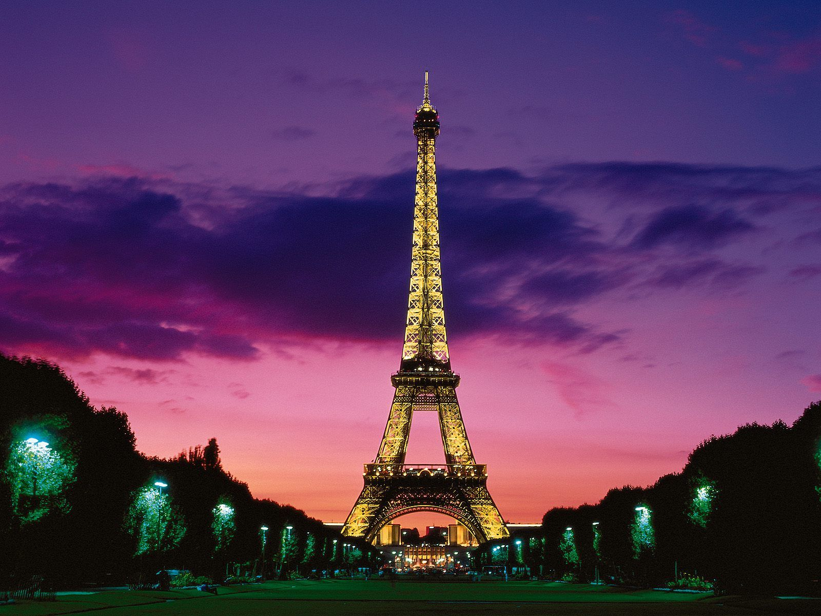 Papel de Parede Torre Eiffel - Cartão Postal Wallpaper ...