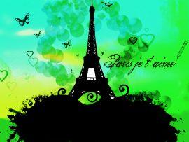 Papel de parede Torre Eiffel – Paris, te amo