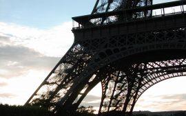Papel de parede Torre Eiffel – Silhueta