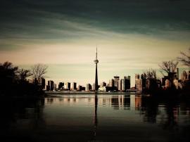 Papel de parede Torre Dusk – Toronto Canadá