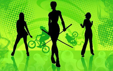 Papel de parede Três garotas para download gratuito. Use no computador pc, mac, macbook, celular, smartphone, iPhone, onde quiser!
