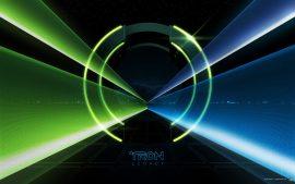 Papel de parede Tron: O Legado – Azul e verde