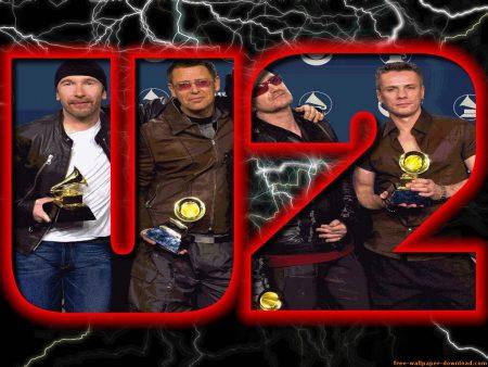 Papel de parede U2 no Grammy para download gratuito. Use no computador pc, mac, macbook, celular, smartphone, iPhone, onde quiser!