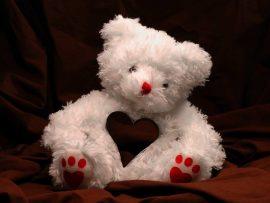 Papel de parede Ursinho – Coração