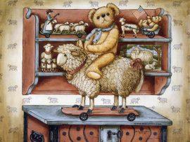 Papel de parede Ursinho – Desenho